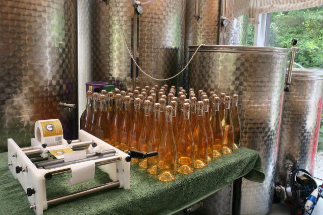 Vinařství Fenny Castle v hrabství Somerset produkuje růžová šumivá vína