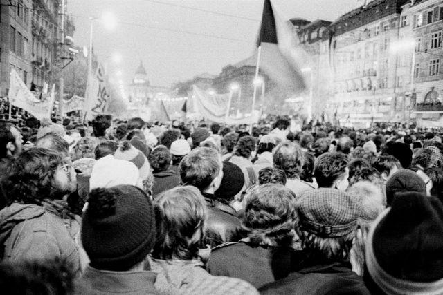 17. listopad 1989 na Václavském náměstí