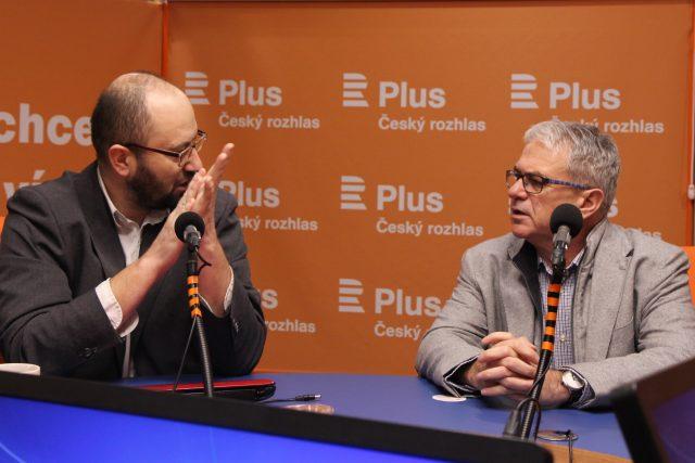 Jeroným Klimeš a Ondřej Trojan byli hosty pořadu Pro a proti | foto: Jana Přinosilová