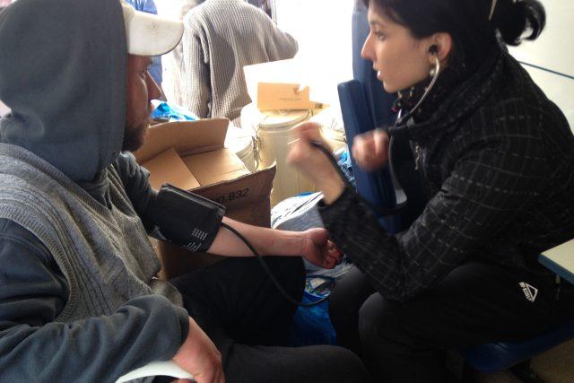 Ordinace pro chudé Armády spásy v Ostravě