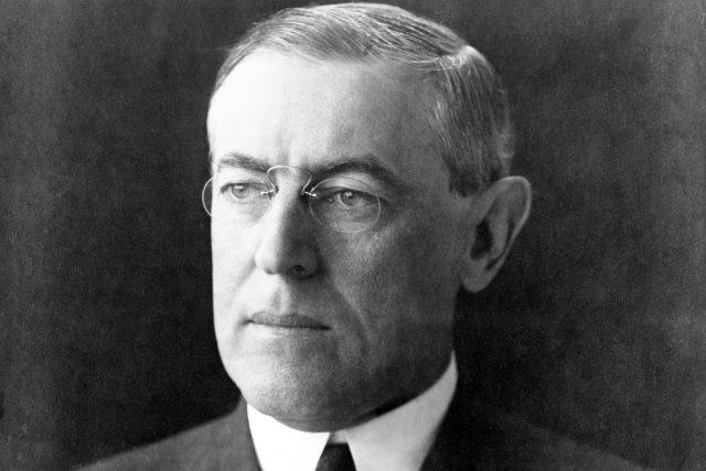 Portrét prezidenta Woodrowa Wilsona z prosince 1912