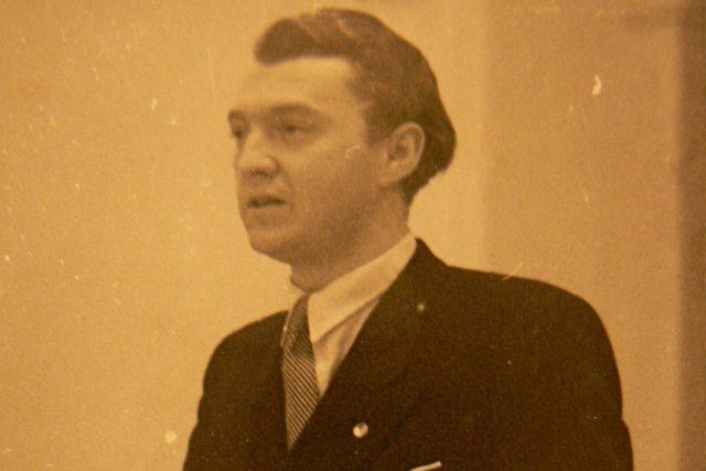 Josef Lesák v únoru 1948 | foto: Post Bellum