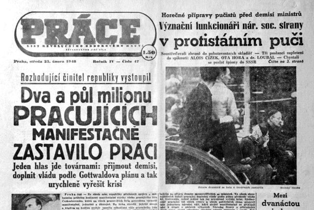 Únor 1948, komunisté snadno převzali moc v Československu