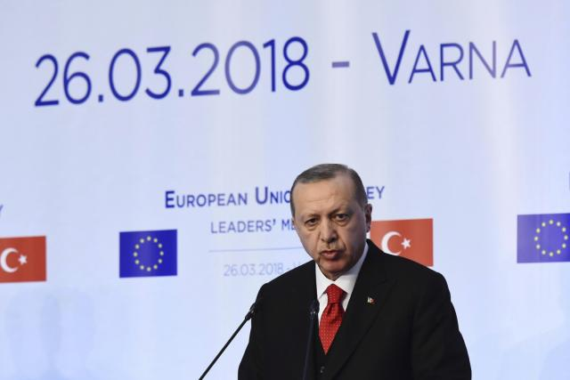 Recep Tayyip Erdogan na summitu v bulharské Varně | foto:  ČTK/AP,   Petko Momchilov, ČTK