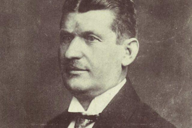 Tomáš Baťa na pohlednici z roku 1920