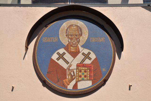 Svatý Mikuláš, mozaika v Toulouse