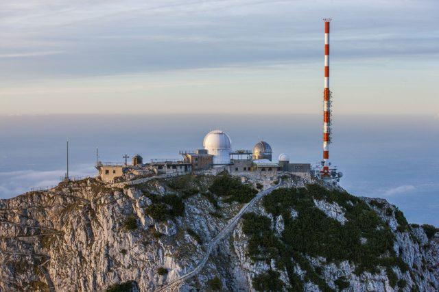 Vysílač Wendelstein, ze kterého zkušební vysílání 5G probíhá