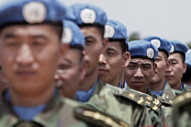 Čínští vojáci na misi OSN v Darfúru