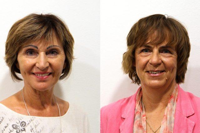 Kandidátky do Senátu za obvod č. 62 Prostějov - Božena Sekaninová (ČSSD) a Jitka Chalánková (BEZPP, navrhuje NK)