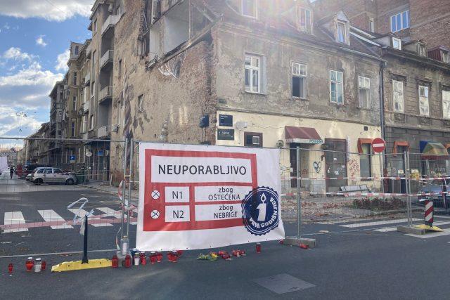 Dům určený ke zbourání v chorvatském Záhřebu | foto: Pavel Novák,  Český rozhlas,  Český rozhlas