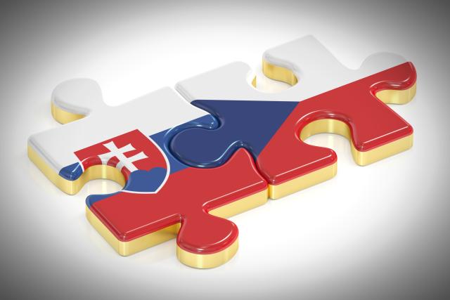 Česká a slovenská vlajka jako puzzle  (ilustrační obrázek)   foto: Shutterstock