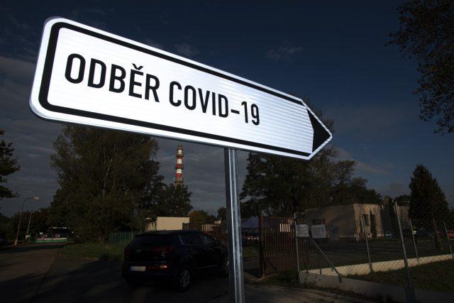 Odběrové místo na covid-19