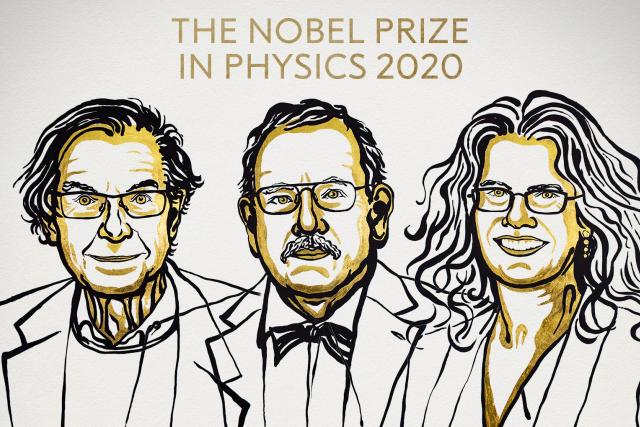 Roger Penrose, Reinhard Genzel a Andrea Ghez