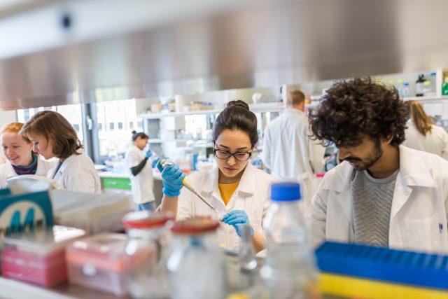 Biologické centrum Akademie věd v Českých Budějovicích, vědci, studenti, výzkum, laboratoř