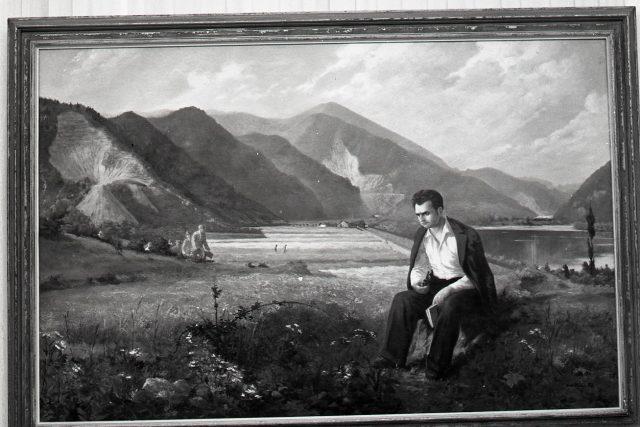 Obraz s mladým Gottwaldem na Slovensku na VII. celoslovenské výstavě výtvarného umění | foto: Profimedia