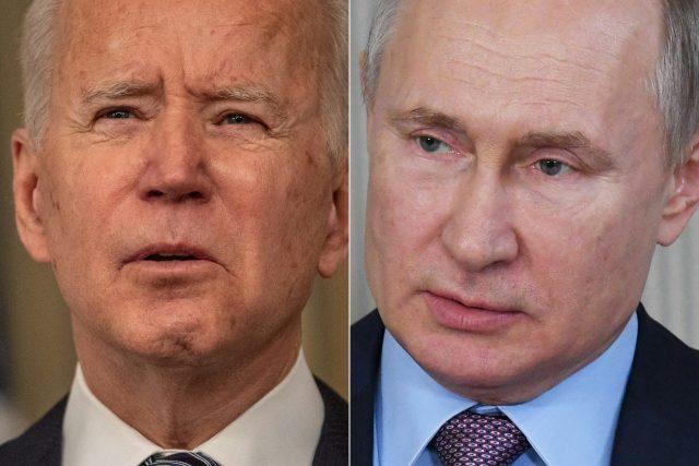 Americký prezident Joe Biden a ruský prezident Vladimir Putin