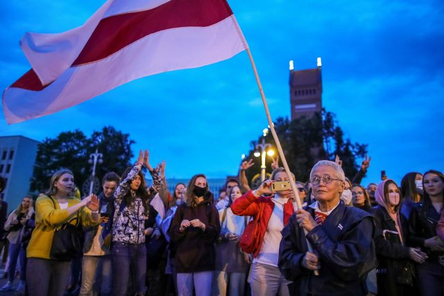 Protesty v Minsku 1. září 2020