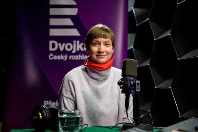 Paulína Tabery v pořadu Jak to vidí...   foto: Khalil Baalbaki,  Český rozhlas Dvojka