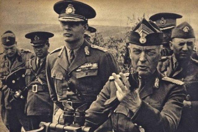 Antonescu a král Michal I. v roce 1941 sledují vojenské operace