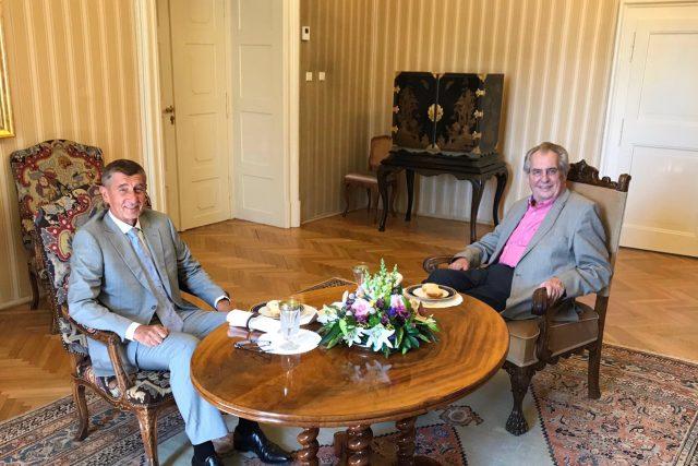 Prezident Miloš Zeman se na zámku v Lánech setkal s premiérem Andrejem Babišem