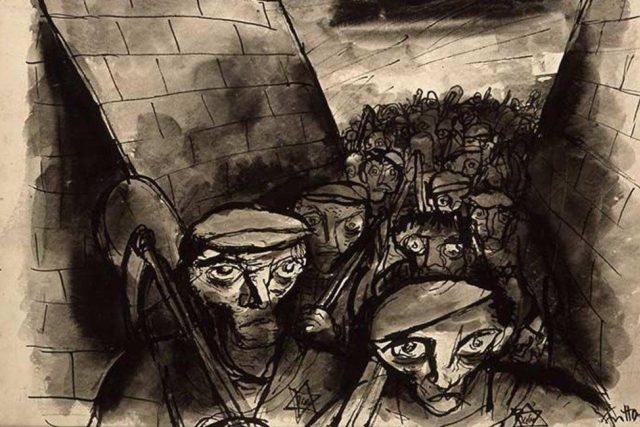 17. července 1944 bylo v Terezíně zatčeno několik malířů a obchodník Leo Strass se přes četníky pokoušel propašovat kresby terezínských malířů zachycující reálný život v ghettu