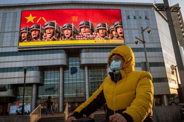 Propaganda v ulicích Pekingu