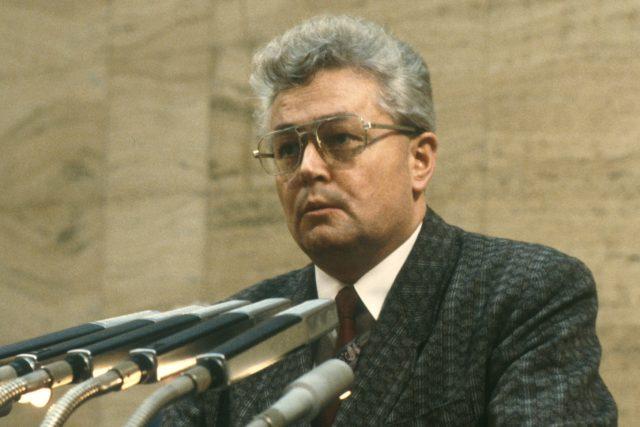 Josef Bartončík v prosinci 1989