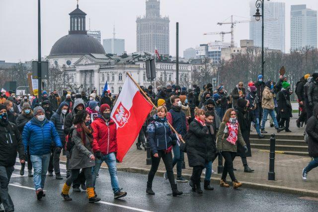 Demonstrace v Polsku (ilustrační foto)