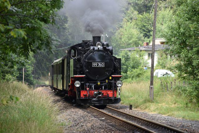 Parní lokomotiva jezdí v německém příhraničí pravidelně