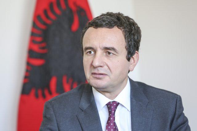 Vítěz parlamentních voleb v Kosovu Albin Kurti