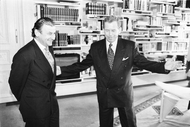 Michael Žantovský a Václav Havel