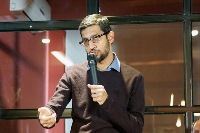 Manažer Sundar Pichaie, který je výkonným ředitelem Google od roku 2016