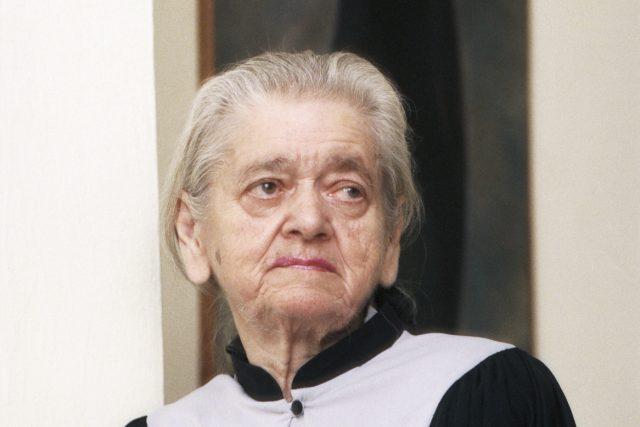 Josefa Slánská, vdova po bývalém generálním tajemníkovi KSČ Rudolfu Slánském  (snímek z listopadu 1993) | foto: Stanislav Peška,  ČTK