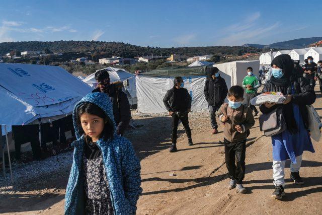 Uprchlický tábor na ostrově Lesbos | foto: Fotobanka Profimedia