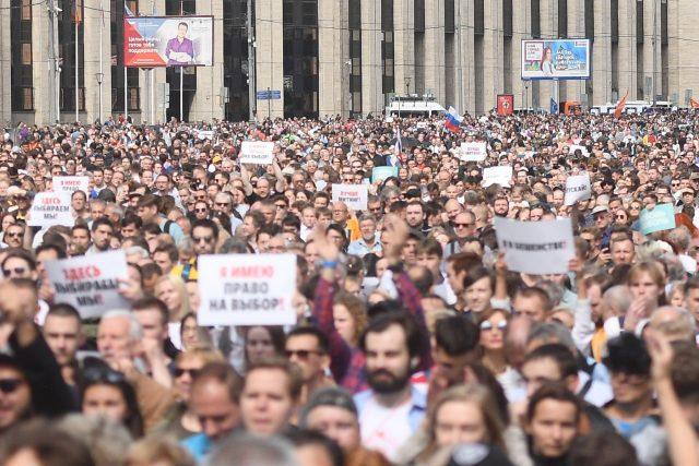 Demonstrace v Moskvě