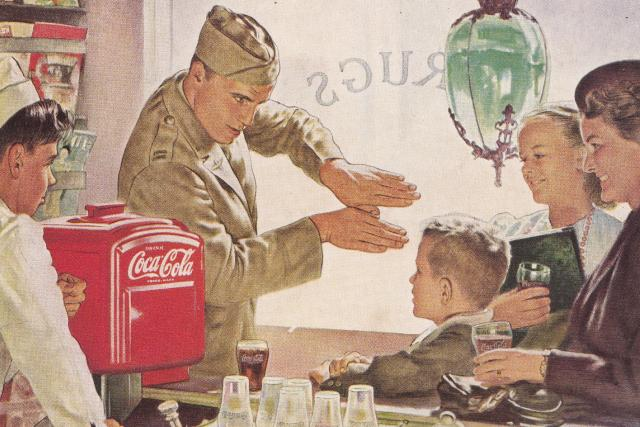 Reklama na Coca-Colu v časopise National Geographic  (červen 1944) | foto: autor neznámý,  Flickr,  CC BY 2.0