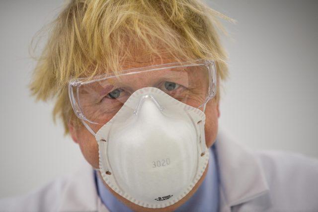 Boris Johnson; Britain's Prime Minister visits the French biotechnology laboratory Valneva in Livingston, west Scotland,