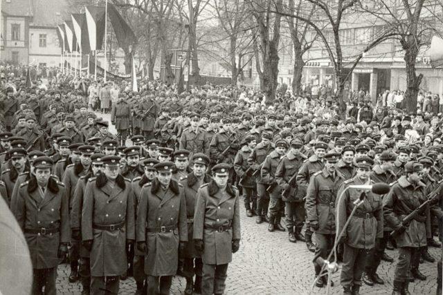 Lidové milice v únoru 1988