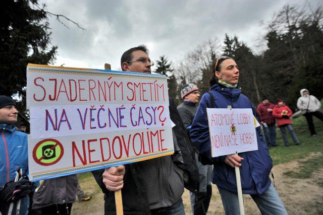 Protest proti úložišti radioaktivního odpadu