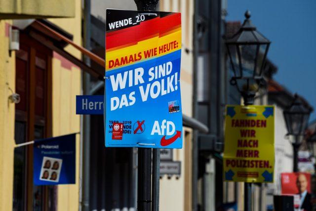 Předvolební kampaň Alernativy pro Německo (AfD)