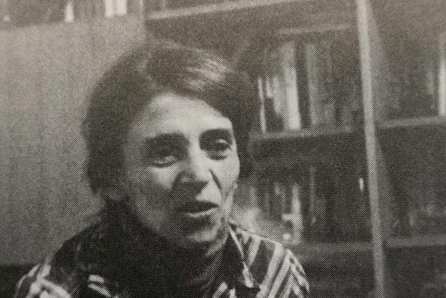 Otta Bednářová po návratu z vězení v roce 1980