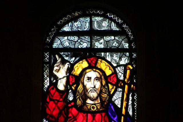 Kristus - křesťanství - vitráž