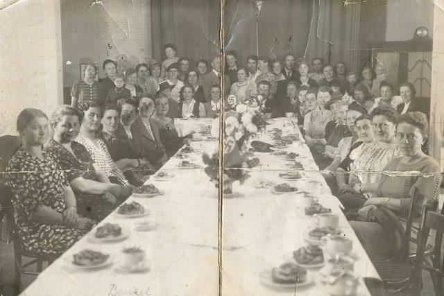 Banket Českého svazu pro spolupráci s Němci v Lounech v roce 1942