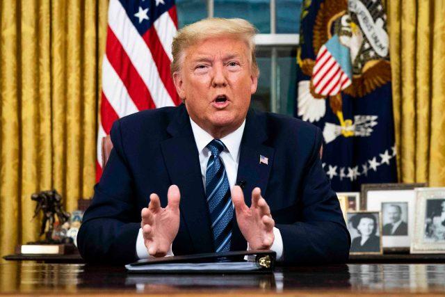Donald Trump - prohlášení k národu k virové epidemii (11, března 2020)