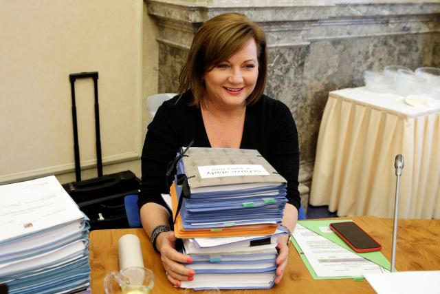 Ministryně financí Alena Schillerová   foto: Jan Handrejch,  Právo / Profimedia