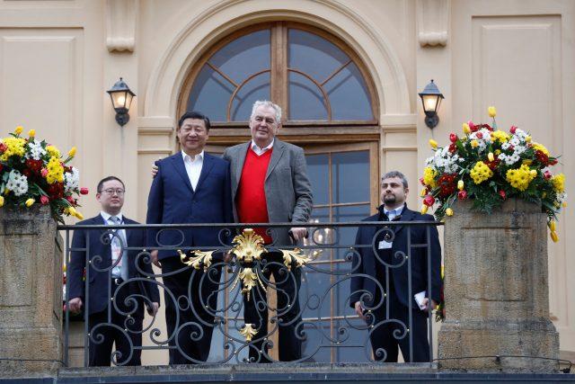 Si Ťin-pching a Miloš Zeman v Praze (v roce 2016)