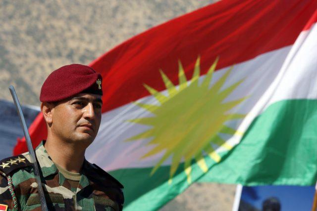Kurdský pešmerga z Iráku
