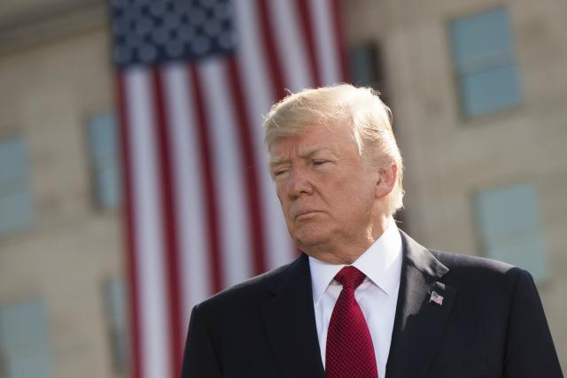 Americký prezident Donald Trump na připomínce obětí útoků z 11. září