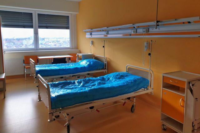 Prázdný pokoj na covidové jednotce nemocnice v Chebu,    foto: Andrea Strohmaierová,  Český rozhlas,  Český rozhlas