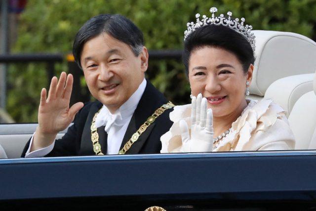 japonský císař Naruhito s manželkou Masako   foto: Fotobanka Profimedia